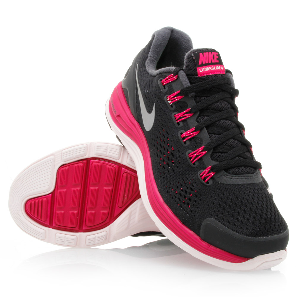 2ba584f1b57cb Nike LunarGlide+ 4 - Womens Running Shoes - Black Berry White Silver ...