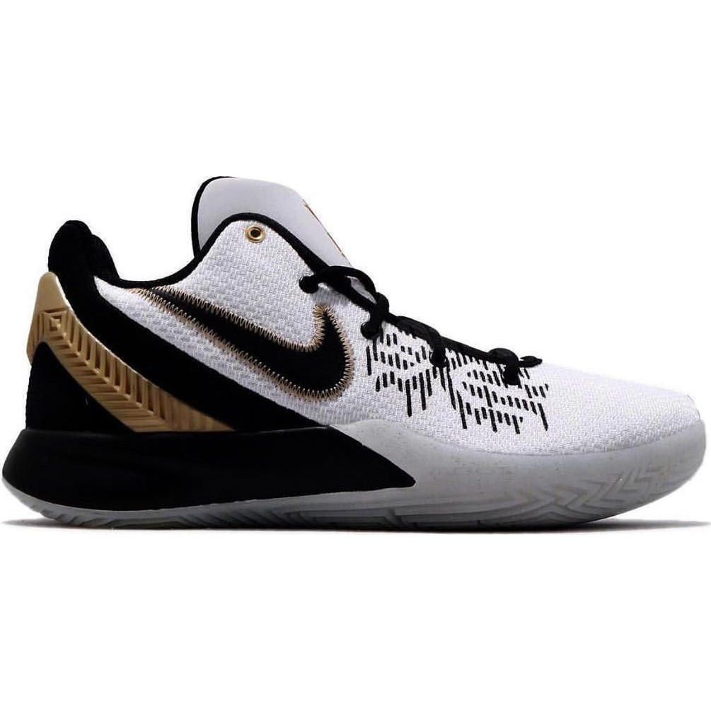 newest 67ad8 563eb Nike Kyrie Flytrap II - Mens Basketball Shoes - White Metallic Gold Black