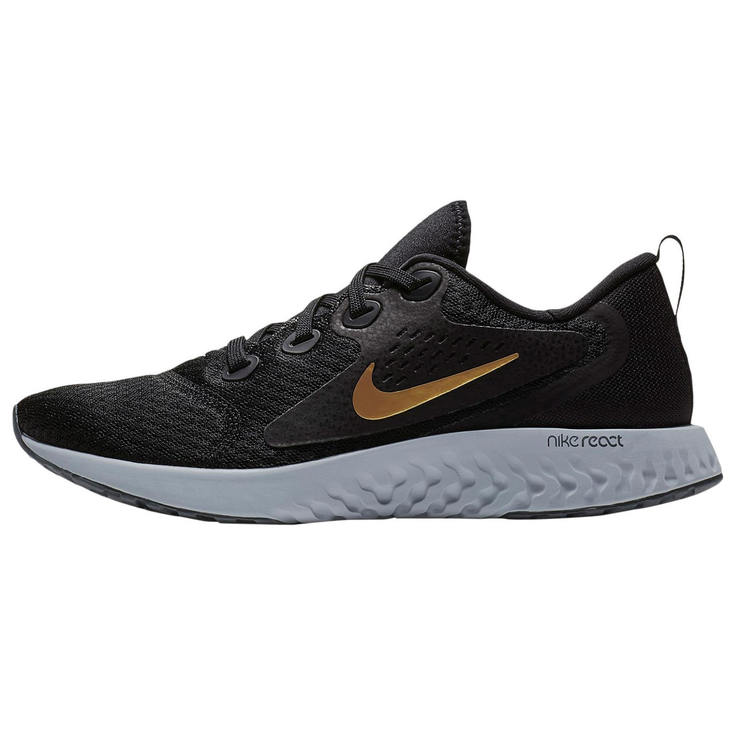 Nike Legend React - Womens Running Shoes - Black/Metallic