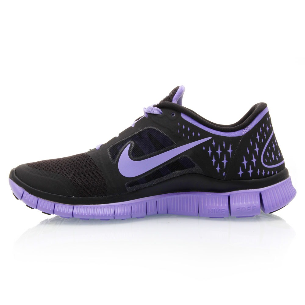 Nike Free Run+ 3 - Womens Running Shoes - Black/Violet ...