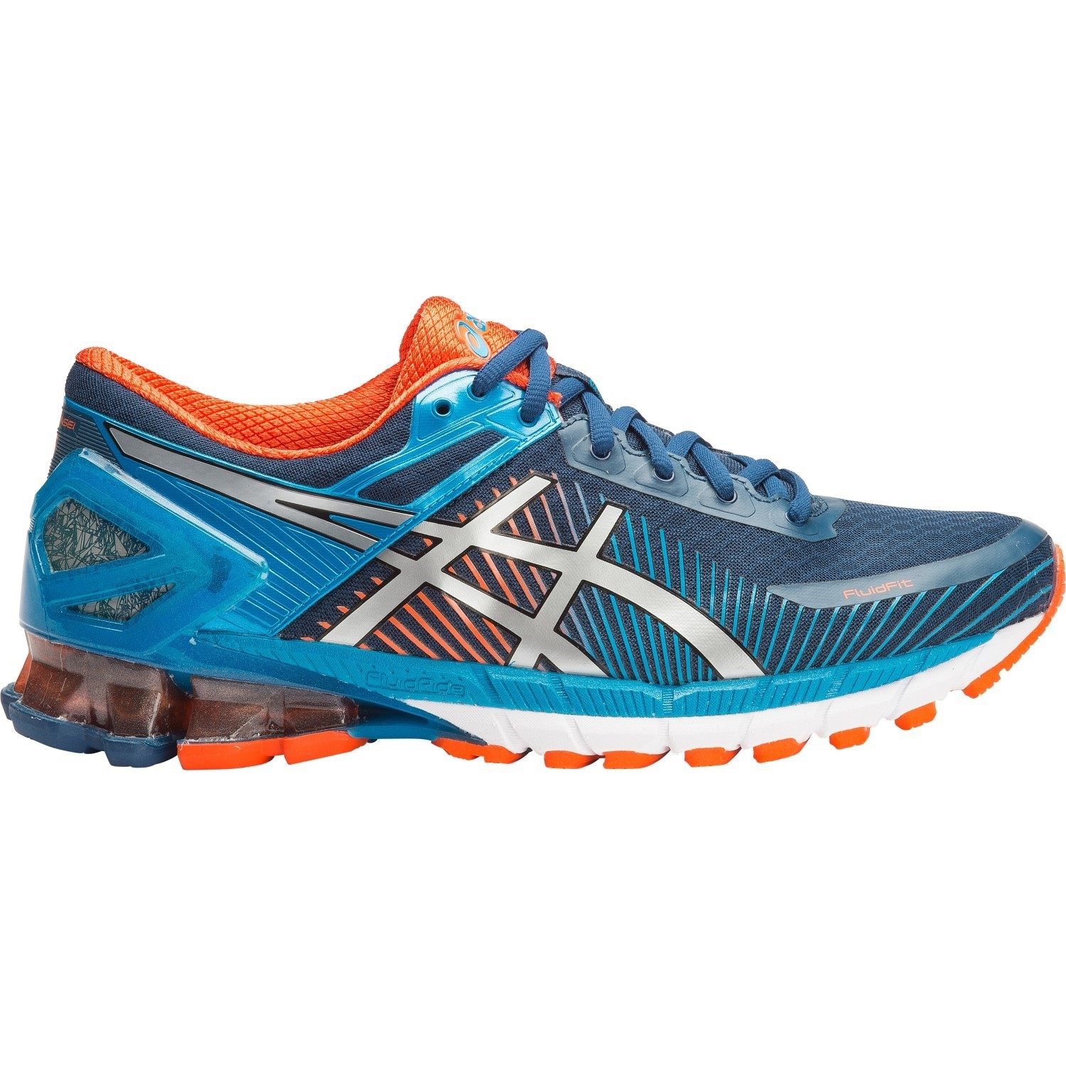 asics kinsei 6 mens running shoes poseidon silver blue jewel online sportitude. Black Bedroom Furniture Sets. Home Design Ideas