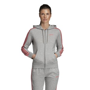 Adidas Essentials 3-Stripes Full Zip Womens Casual Hoodie