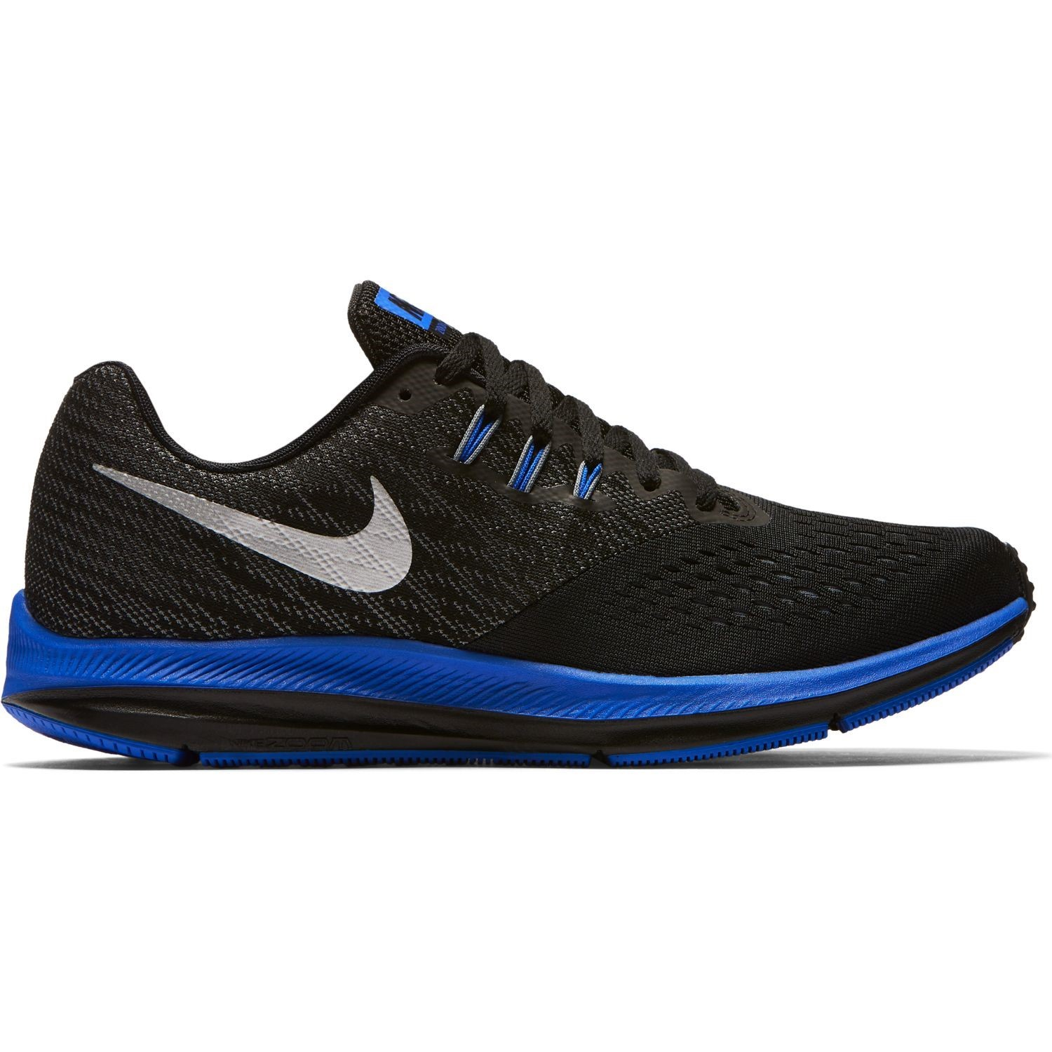be9fe58e3226b Nike Zoom Winflo 4 - Mens Running Shoes - Black Metallic Silver Cool Grey