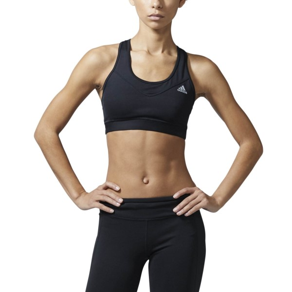 Adidas Techfit Womens Sports Bra - Black/Matte Silver