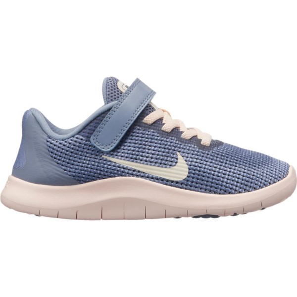 Nike Flex RN 2018 PSV - Kids Girls Running Shoes - Ashen Slate/Guava Ice/Diffused Blue