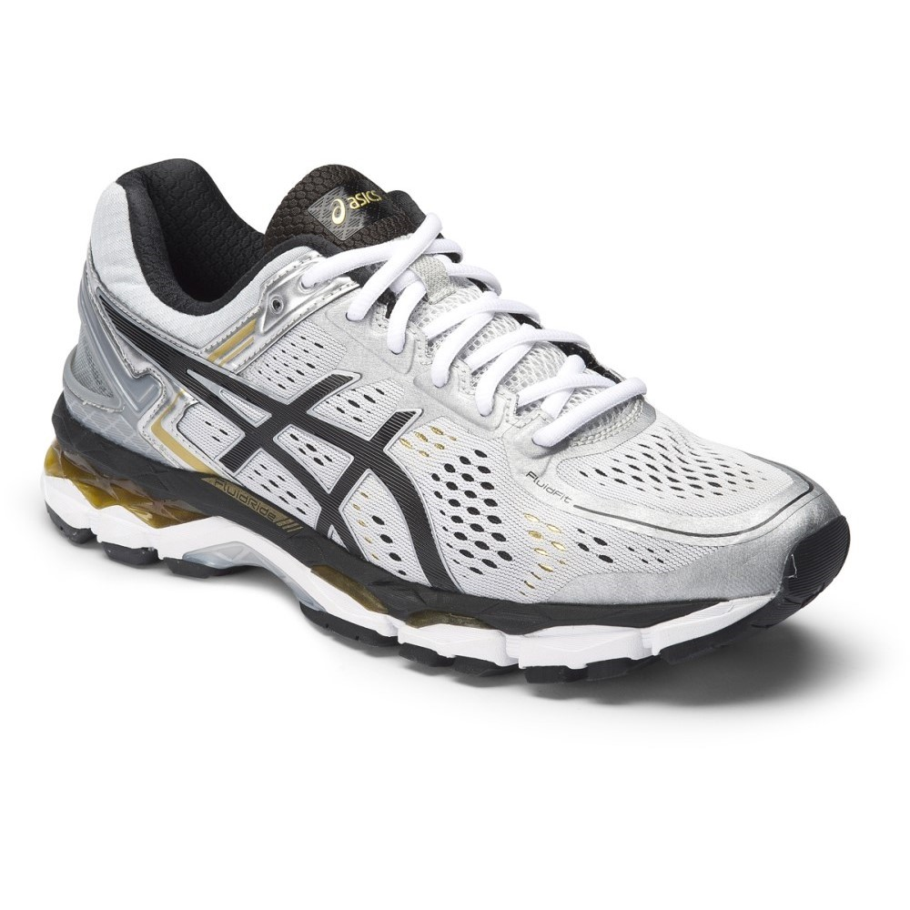 asics gel kayano 22 mens running shoes silver black gold online sportitude. Black Bedroom Furniture Sets. Home Design Ideas