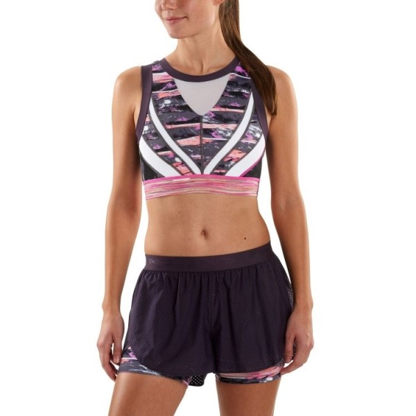 Skins DNAmic Womens Compression Vest Crop Top - Strata
