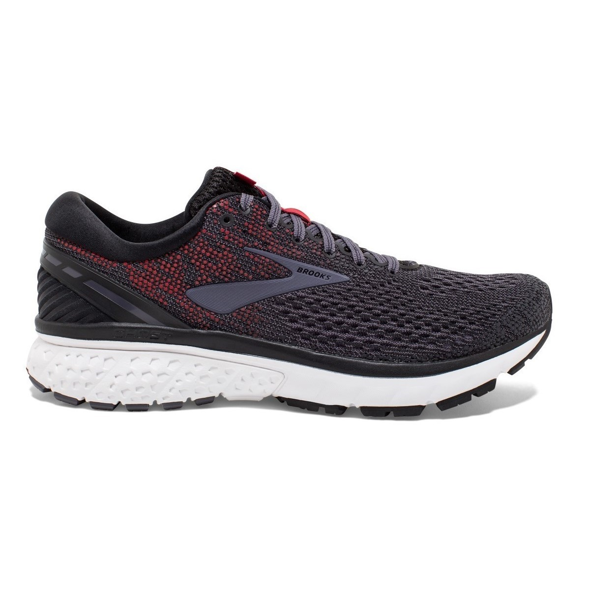 99c2386080d Brooks Ghost 11 - Mens Running Shoes - Black Graystone Cherry ...