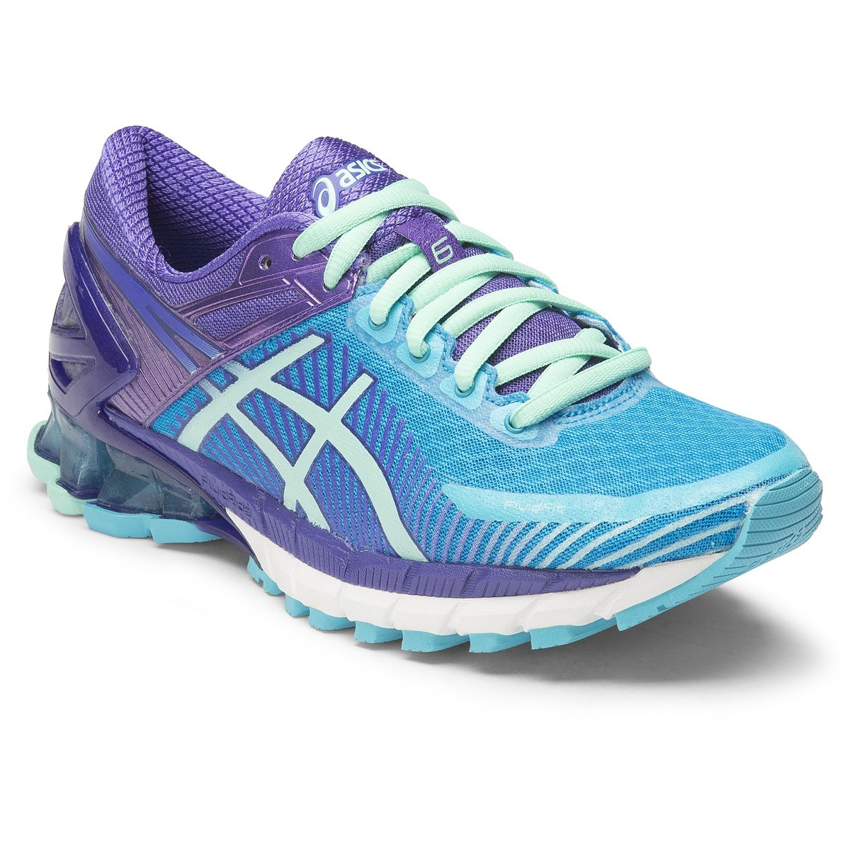 asics kinsei 6 womens running shoes turquoise silver purple online sportitude. Black Bedroom Furniture Sets. Home Design Ideas