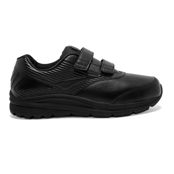 Brooks Addiction Walker 2 Leather Velcro - Mens Walking Shoes - Black