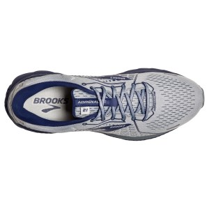 Brooks Adrenaline GTS 21 - Mens Running Shoes - Grey/Tradewinds/Deep Cobalt