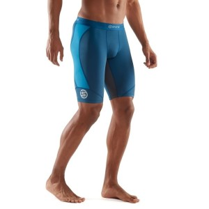 Skins DNAmic Mens Compression Half Tights + Free Gym Bag