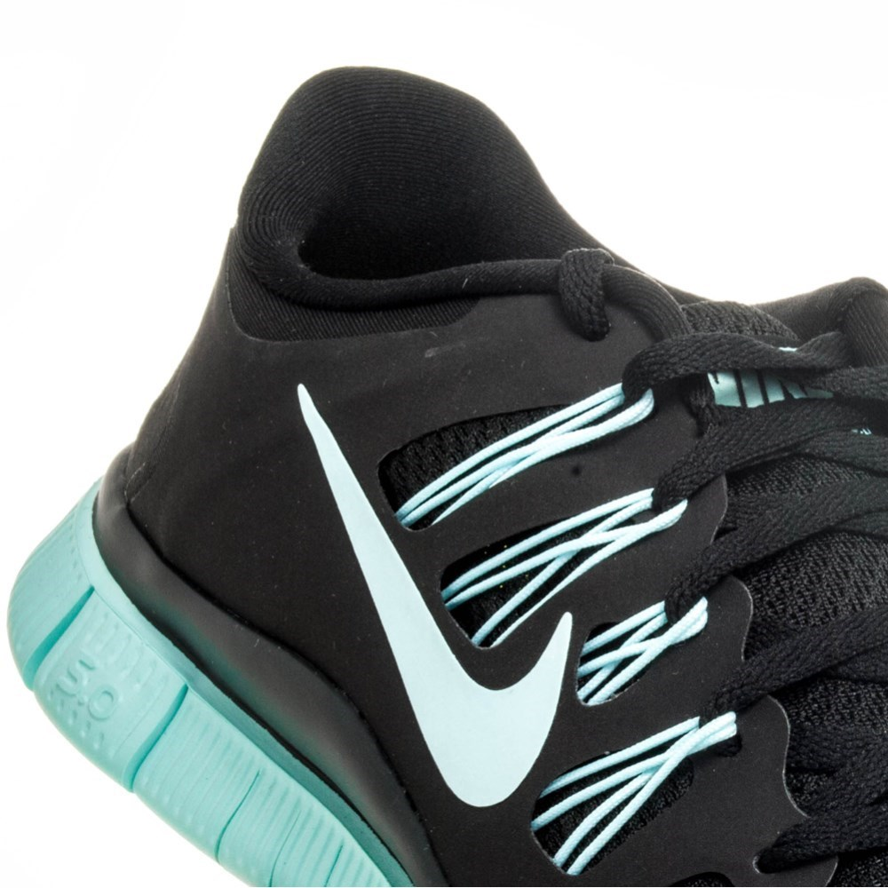 Nike Free 5.0 Womens Running Shoes Black/Teal Online Sportitude