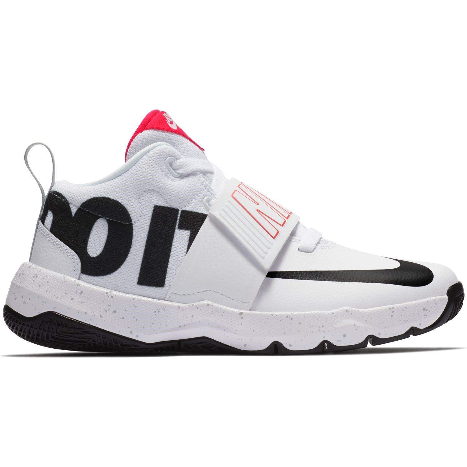 f0d84e011db Nike Team Hustle D 8 JDI GS - Kids Basketball Shoes - White Black ...
