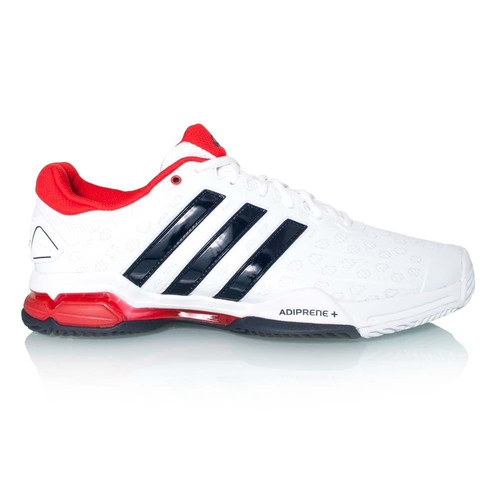 Adidas Barricade Club - Mens Tennis Shoes - White Collegiate Navy Vivid Red 85a6259fc