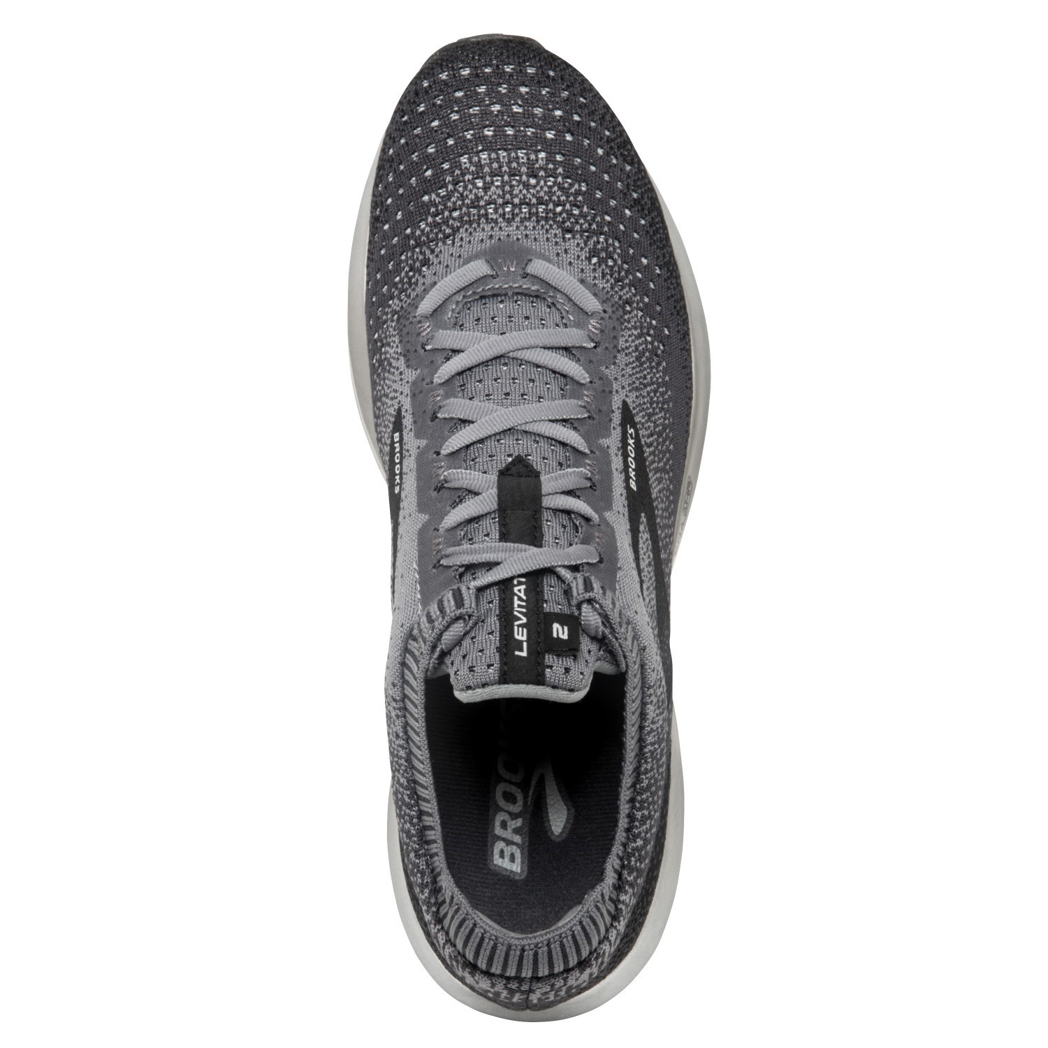 2584f6ee520b7 Brooks Levitate 2 - Mens Running Shoes - Black Grey Ebony