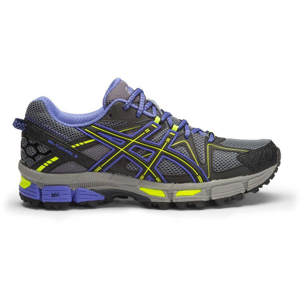 3331a398763e Asics Gel Kahana 8 - Womens Trail Running Shoes - Aluminium Black Flash  Yellow