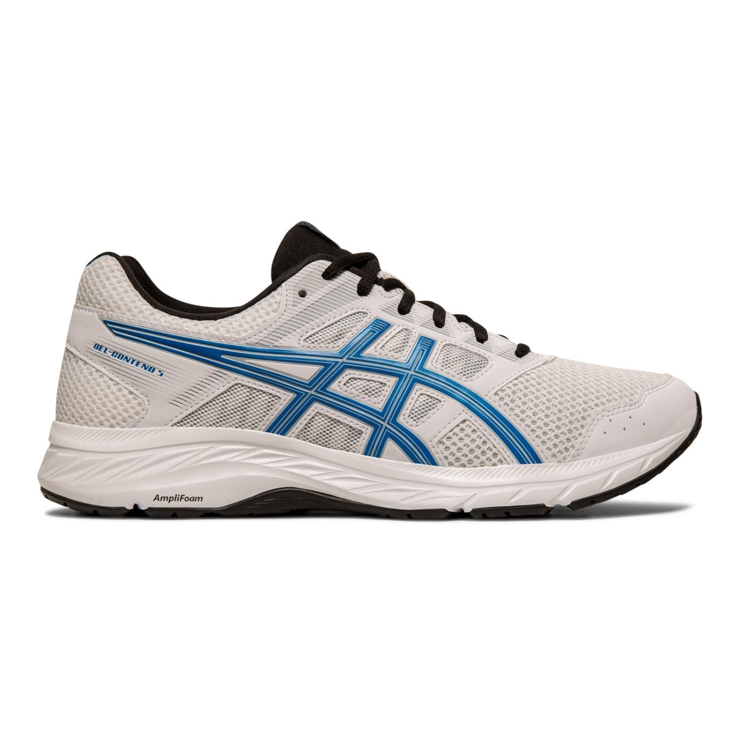 90d4678e1 Asics Gel Contend 5 - Mens Running Shoes - White/Electric Blue ...