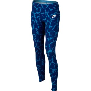Nike Sportswear All Over Print Kids Girls Training Tights