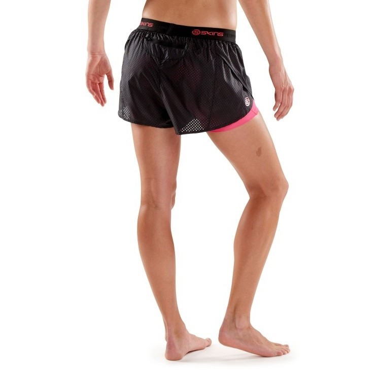 497dbff0dbf1b Skins DNAmic Superpose Womens 2-in-1 Compression Shorts - Lampone ...