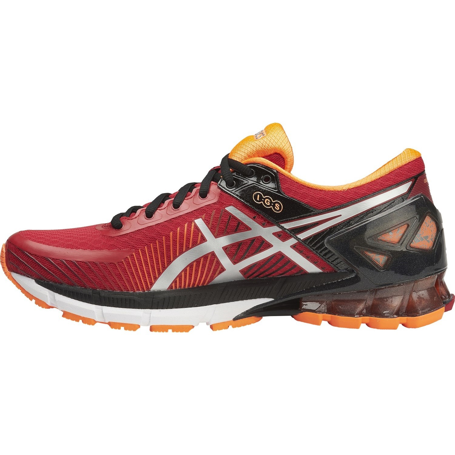 asics kinsei 6 mens running shoes true red silver hot orange online sportitude. Black Bedroom Furniture Sets. Home Design Ideas