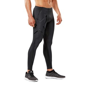 2XU MCS Mens Football/Soccer Compression Tights - Black/Nero