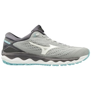 Mizuno Wave Sky 3 - Womens Running Shoes - Vapor Blue/White/Gulf Stream