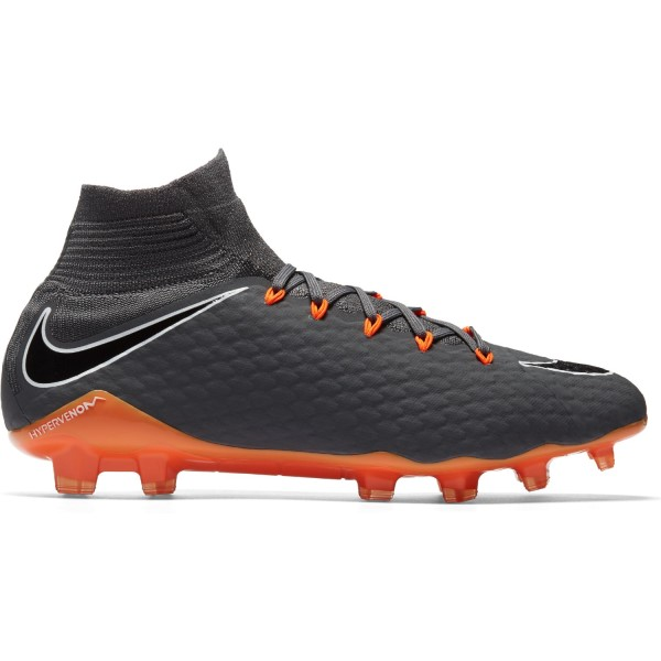 Nike Hypervenom Phantom III Pro DF FG - Mens Football Boots - Dark Grey/Total Orange/White