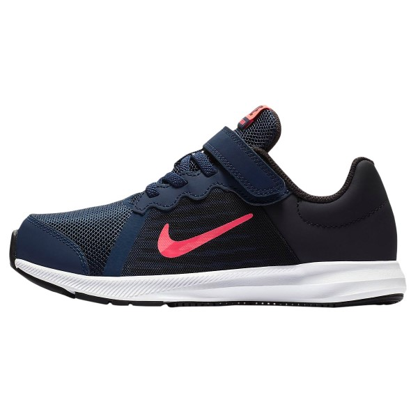 Nike Downshifter 8 PSV - Kids Running Shoes - Midnight Navy/Flash Crimson