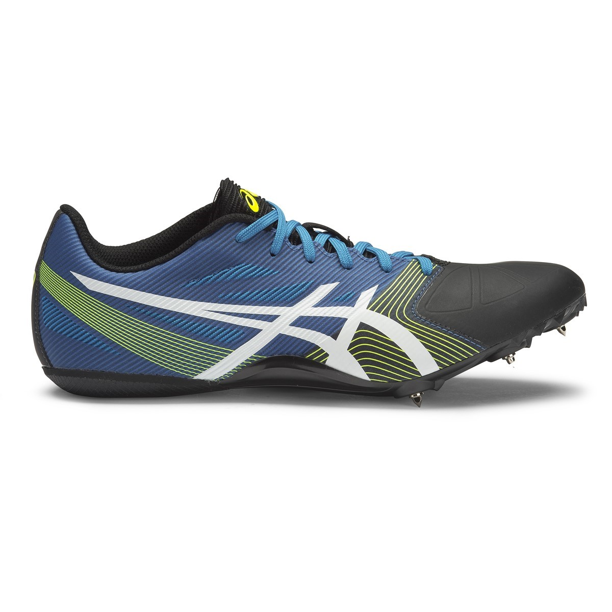 Asics Hyper Sprint 6 - Mens Sprint Spikes - Methyl Blue/White/Flash Yellow