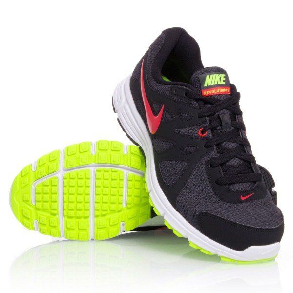 921584bf7ab5b Nike Revolution 2 MSL - Mens Running Shoes - Black Red Yellow ...