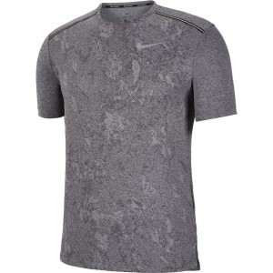 Nike Dri-Fit Miler Print Mens Running T-Shirt