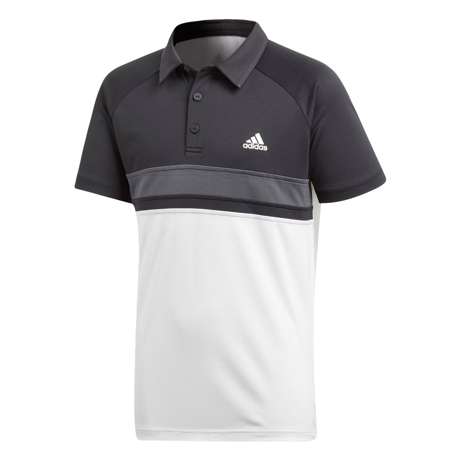d841a810f2a Adidas Club Colourblock Kids Boys Tennis Polo Shirt - White/Black ...