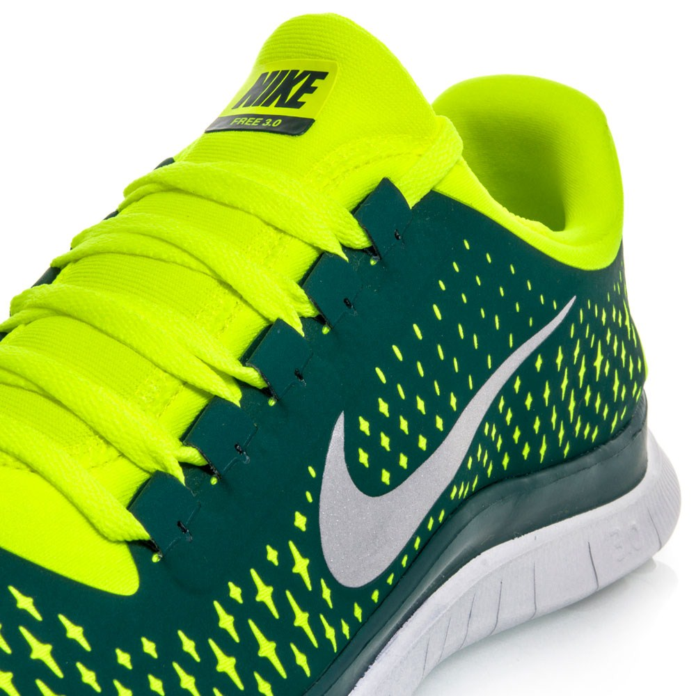 Nike Free 3.0 V4 - Mens Running Shoes - Green/Yellow