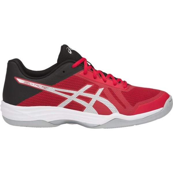 Asics Gel Tactic - Mens Indoor Court Shoes - Classic Red/Silver/Black
