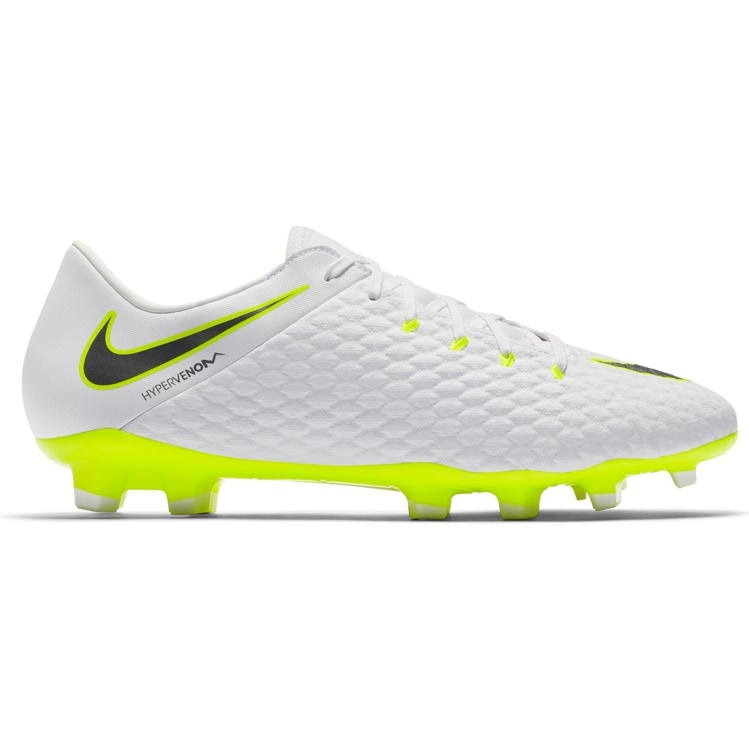 5fd138081 Nike Hypervenom Phantom III Academy FG - Mens Football Boots -  White Metallic Cool
