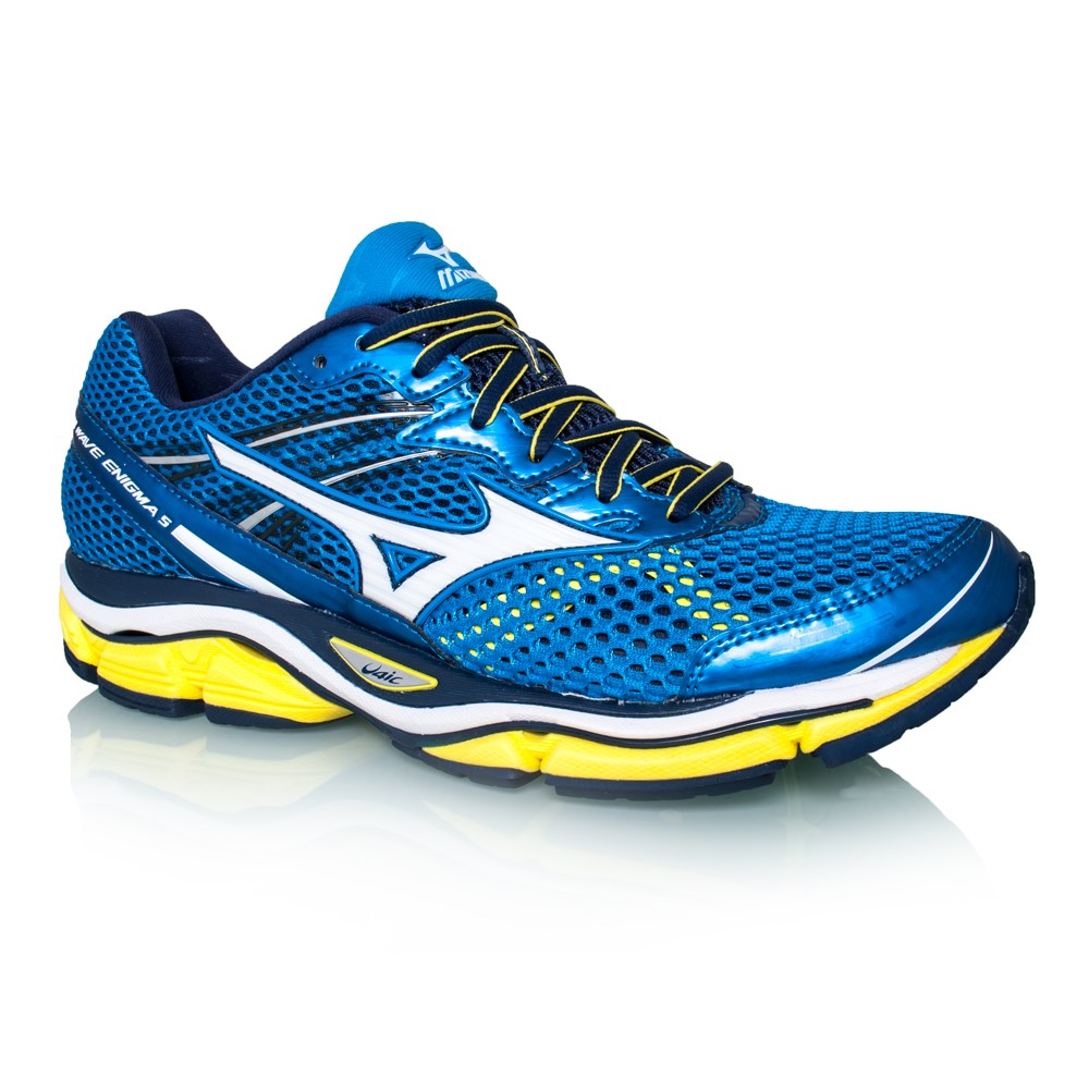 mizuno wave enigma 5 mens running shoes blue yellow online sportitude. Black Bedroom Furniture Sets. Home Design Ideas