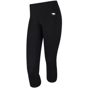 Running Bare High Rise Supplex Womens 7/8 Training Tights - Black