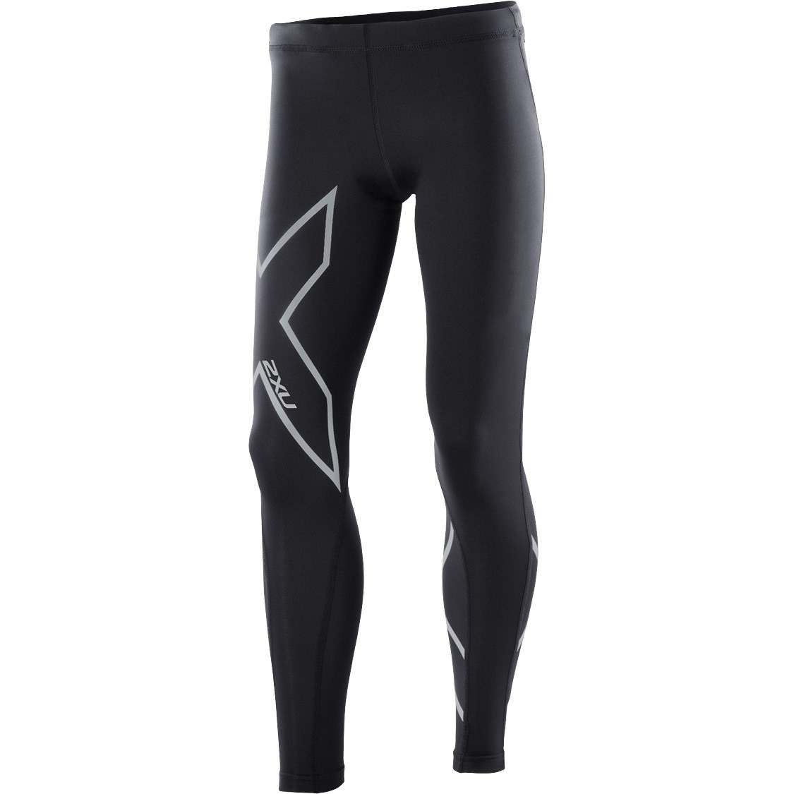 64a2f07e 2XU Kids Girls Compression Long Tights - Black/Silver | Sportitude