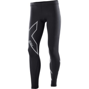 2XU Kids Girls Compression Long Tights - Black/Silver