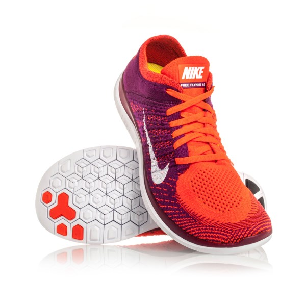 brand new 1cbbe 8585d Nike Free Flyknit 4.0 - Womens Running Shoes - Bright Crimson White Rasberry