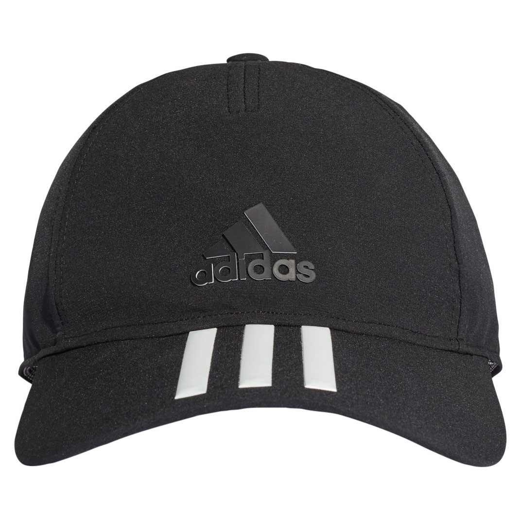 8d2fb1fa Adidas C40 3-Stripes Climalite Running Cap - Black/Black/White ...