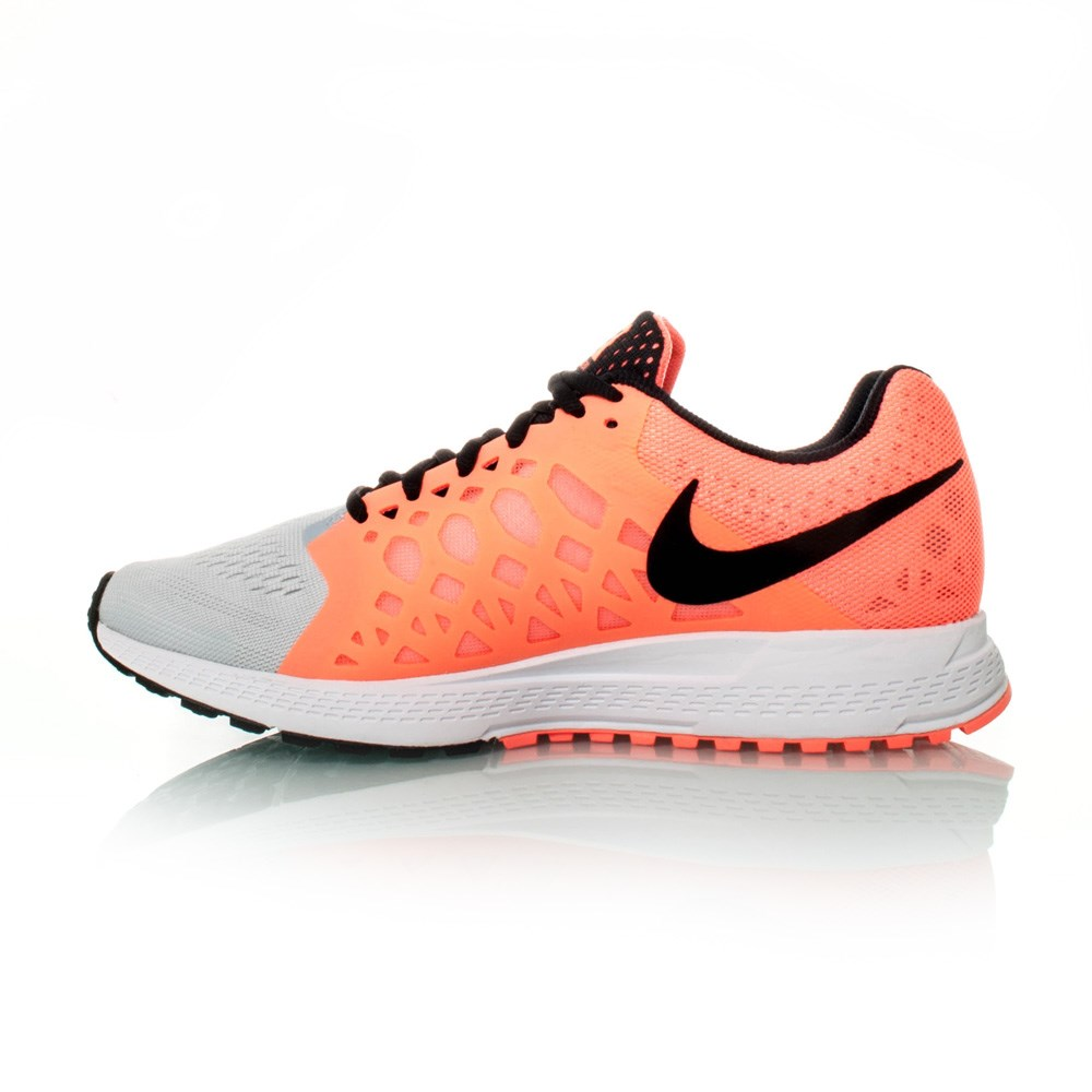 Nike Grey And Orange Sport Shoes