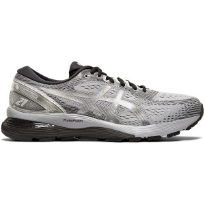 Asics Gel Nimbus 21 Platinum - Mens Running Shoes + Free Lightfeet Socks