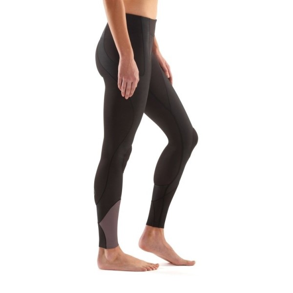 Skins K-Proprium Womens Long Tights - Espresso
