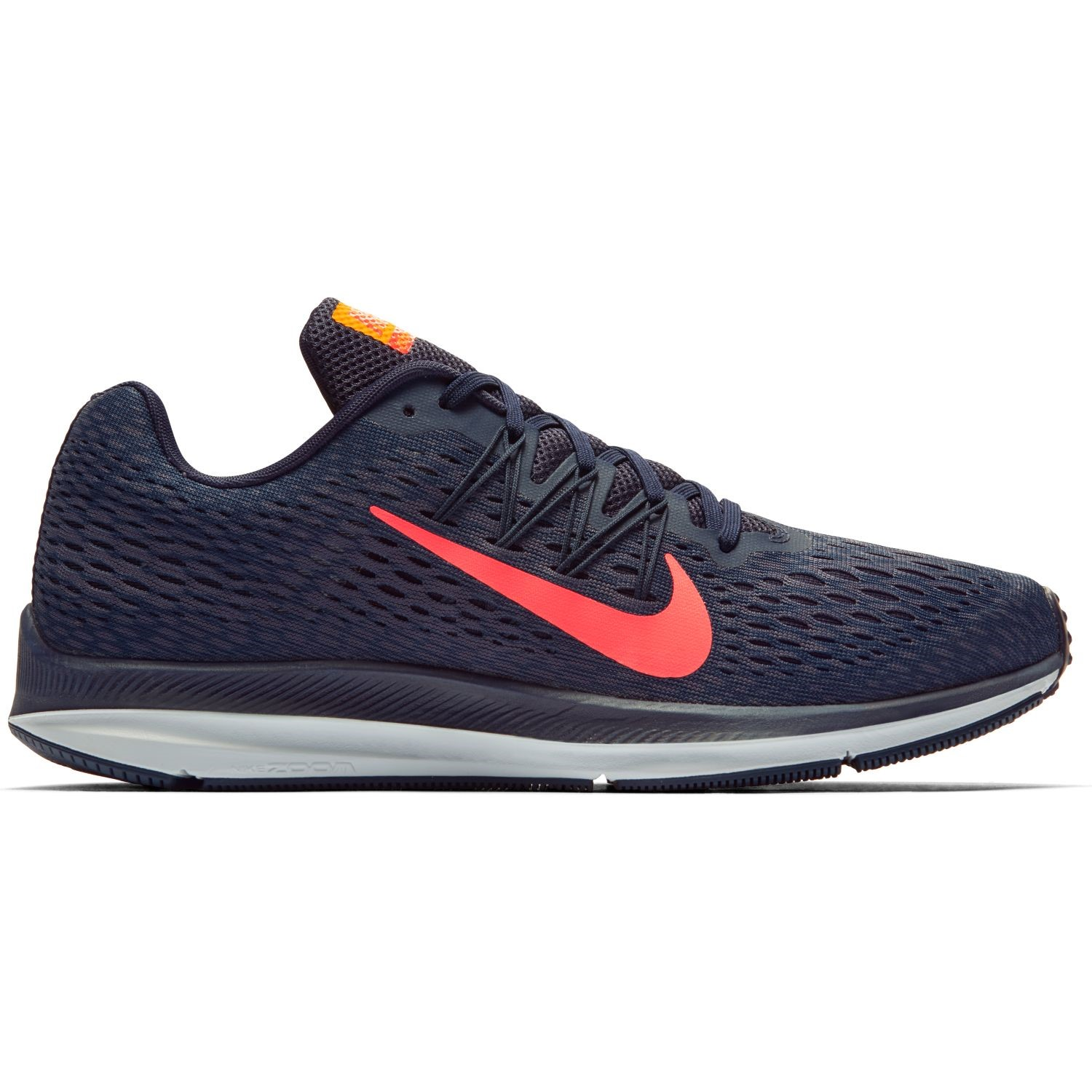 new concept b91ed 68cbc Nike Zoom Winflo 5 - Mens Running Shoes - Blackened Blue Flash Crimson