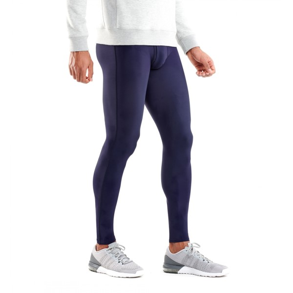 Skins DNAmic Sport Recovery Mens Compression Long Tights - Mariner