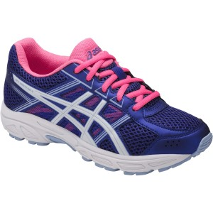 Asics Gel Contend 4 GS - Kids Girls Running Shoes - Blue Purple/White/Airy Blue