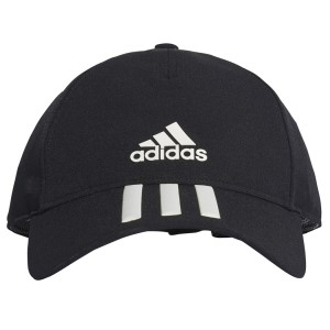 Adidas C40 3-Stripes Climalite Mens Running Cap - Black/White