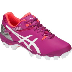 84b764aca80 ... Asics Gel Lethal Touch Pro 6 - Womens Turf Shoes - Rouge Red/White/ ...